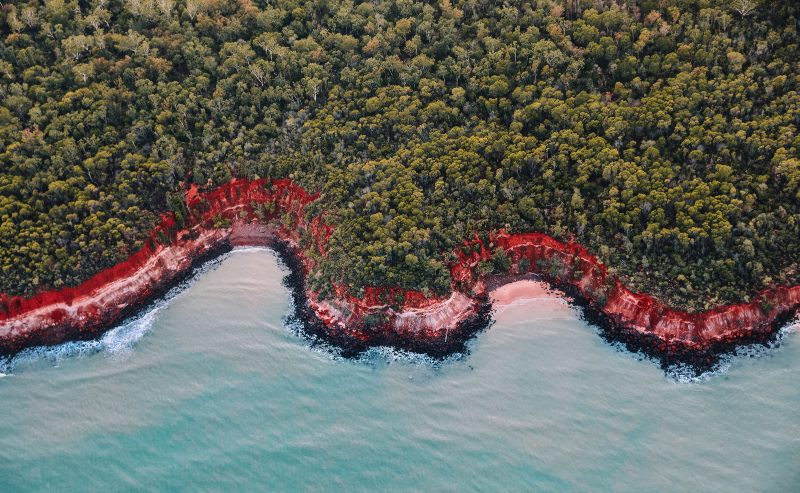 131224 56 Aerial view of Rainbow Beach at Tiwi Islands 1