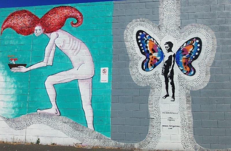 Bunbury street art Metamorphosis Lori Pensini