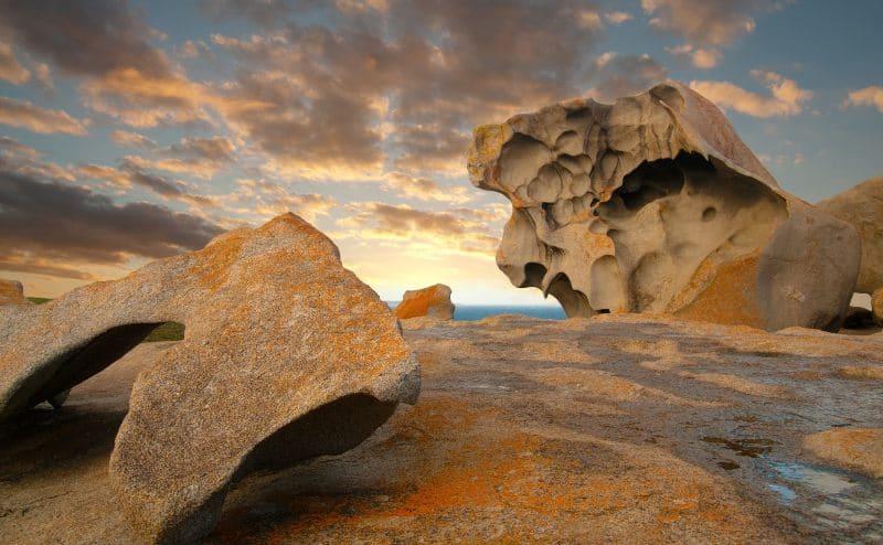 Kangaroo Island remarkable rocks on the coastline.