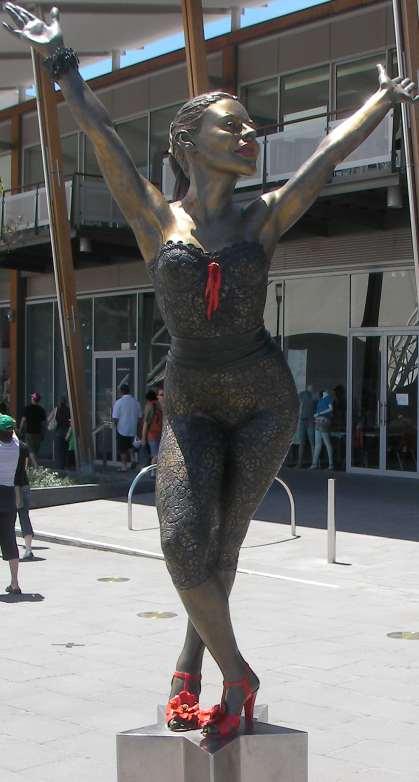 Kylie Minoque statue Docklands