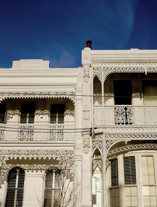 Detailed ironwork on terrace in melbourne
