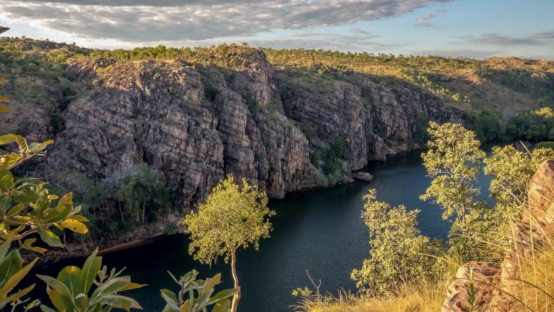 The beautiful Nitmiluk Gorge can be seen from this Darwin Tour