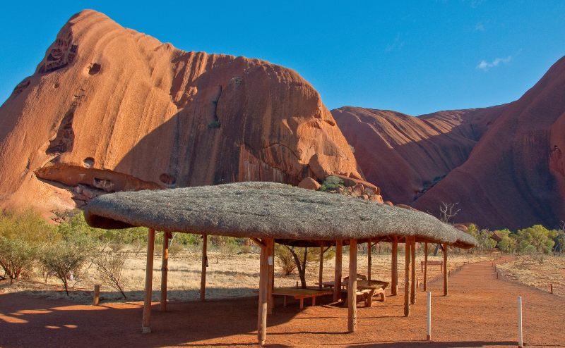 Shelter along the Uluru base walk