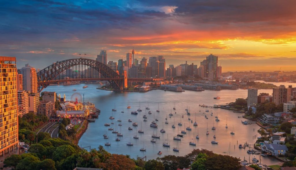Sydney Harbour Sunset from North Sydney