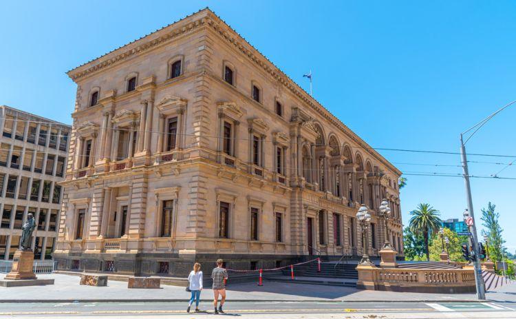 Old treasury Melb australia