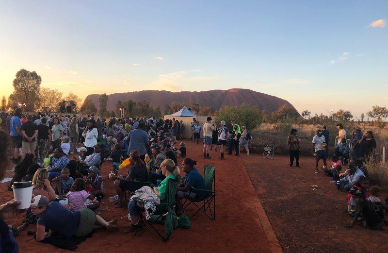 Uluru Climb Closure celebration