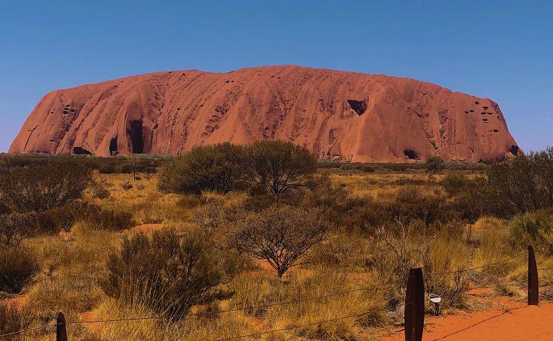 Uluru mid morning view