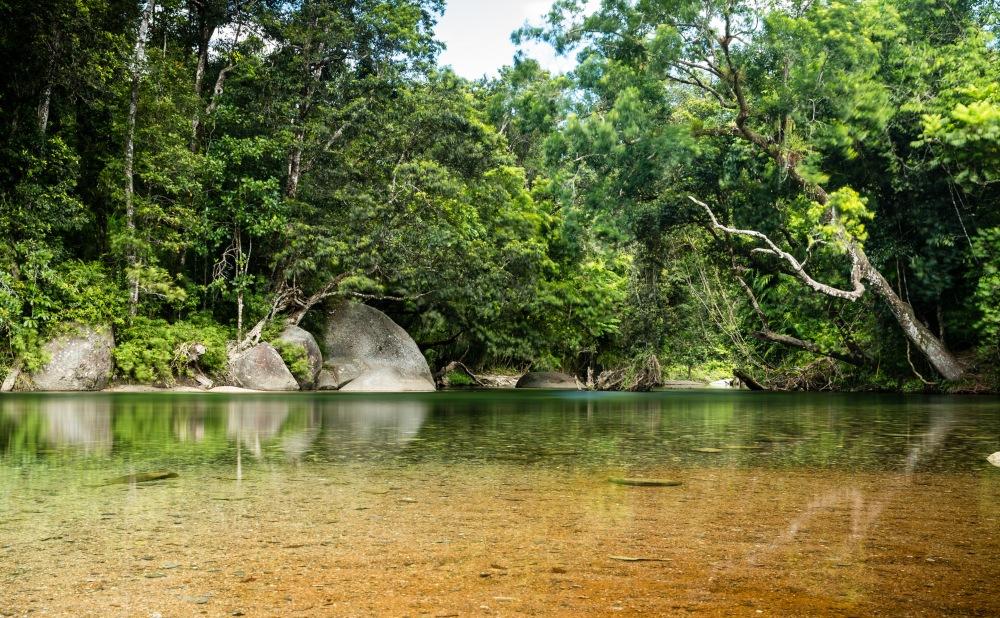 Babinda Boulders swimming hole Queensland