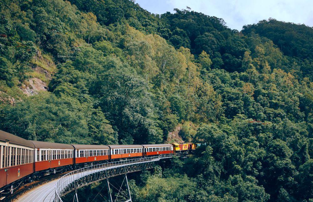Kuranda Scenic Railway at Stoney Creek Falls 1000