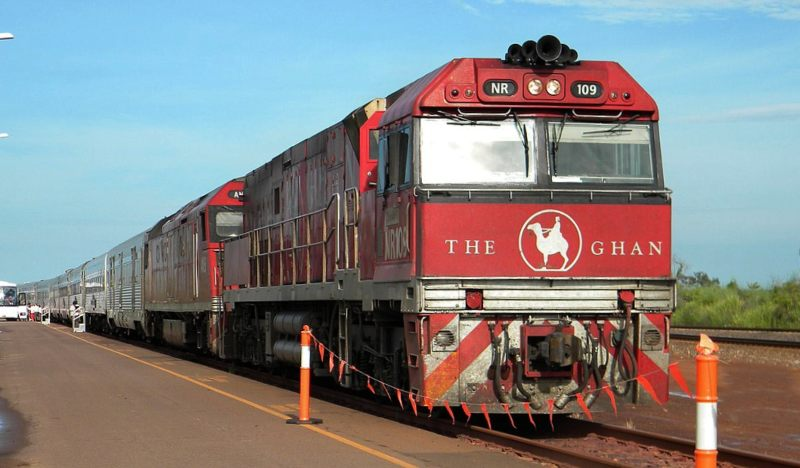 The Ghan departing Adelaide