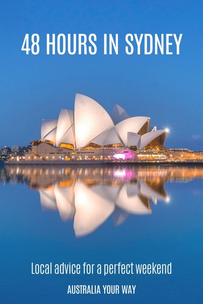 48 hours in Sydney pin text