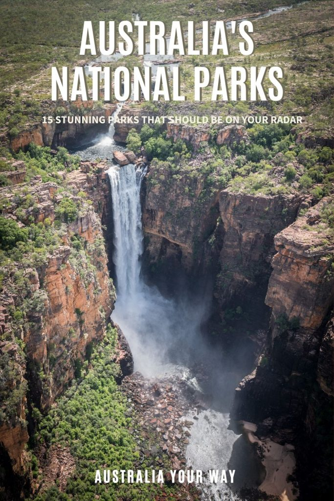Australias National Parks pin Norther territory waterfall