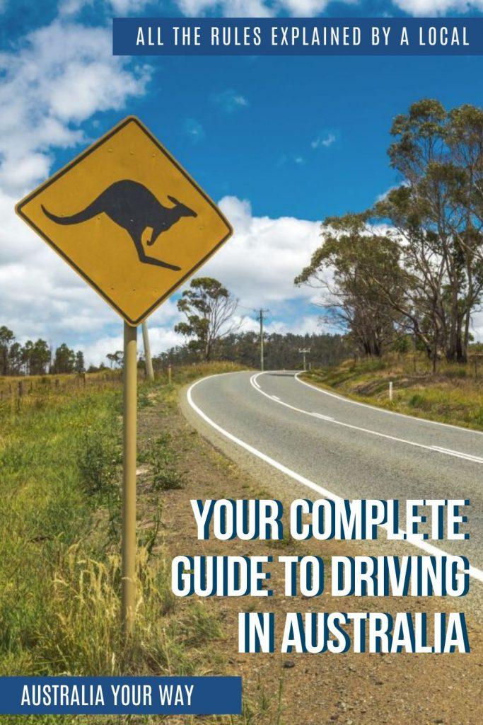 Driving in Australia pin