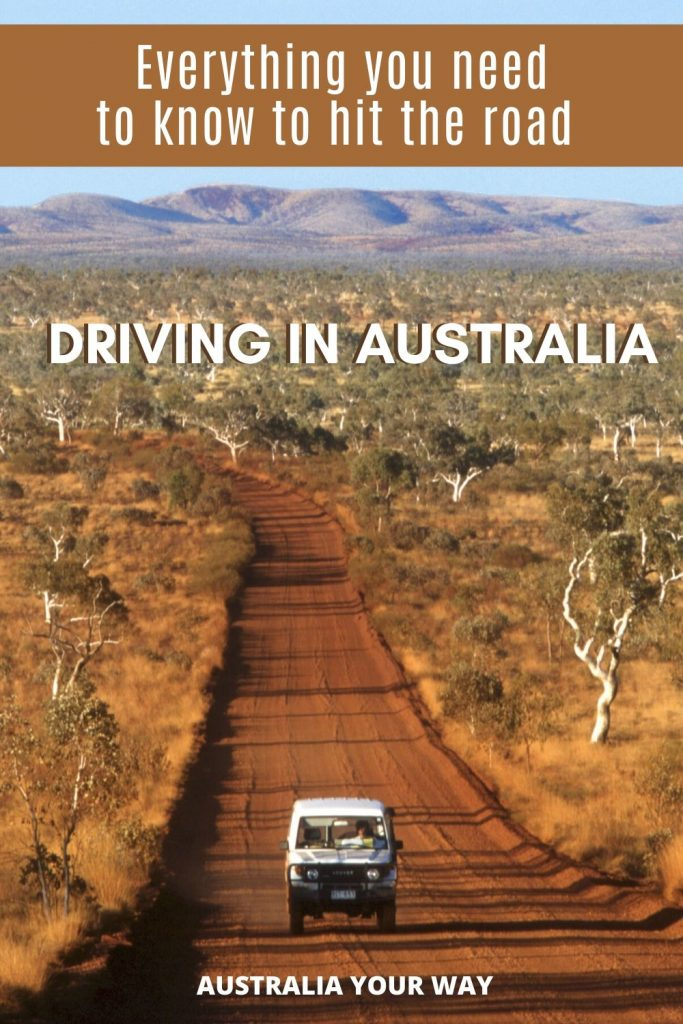 Driving in Australian outback