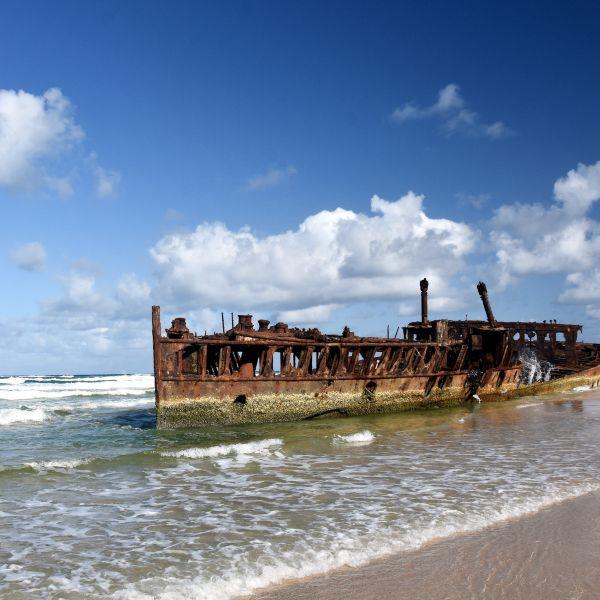 SS Maheno shipwreck Fraser Island Queensland