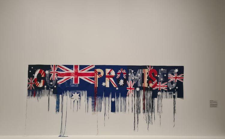 aussie flag work NGA Canberra