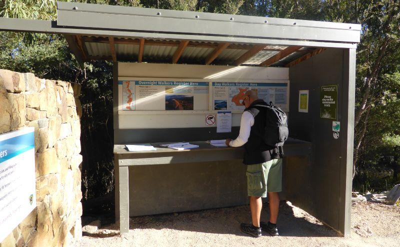 Registering your walk plan Tasmania National Park
