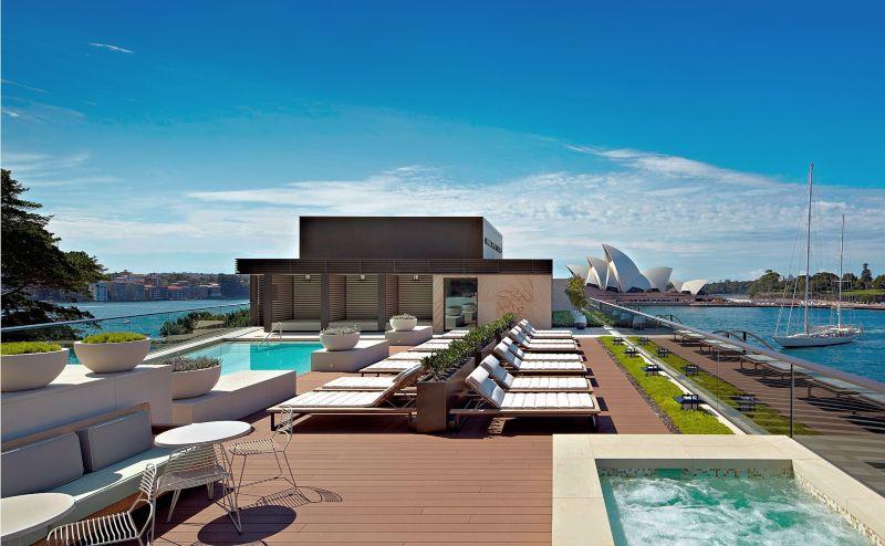 Hyatt Sydney rooftop pool view