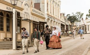 People in historical dress at Sovereign Hill Ballarat