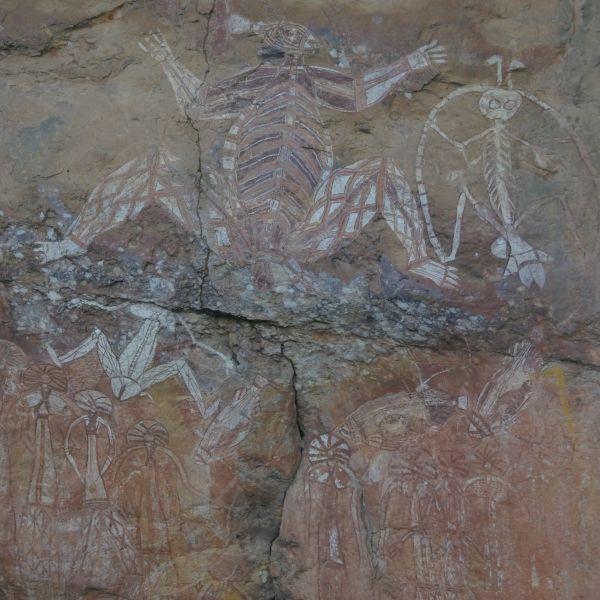 kakadu National Park Rock Art at Nourlangie