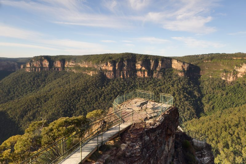 Pulpit Rock lookout in Blackheath Blue Mountains