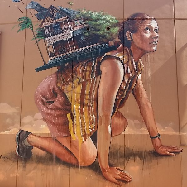 Street Artisit Fintan Magee Mural in Perth Australia