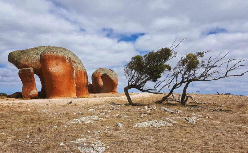 Murphys Haystack  in South Australia, now an ancient natural monument and tourist attraction,these are  spectacular rock formations