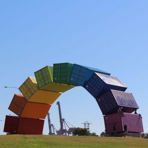 Rainbow Sea Container Fremantle Container sculpture Perth