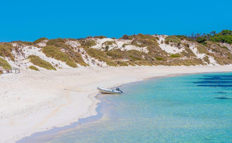 Rocky bay at Rottnest island in Australia