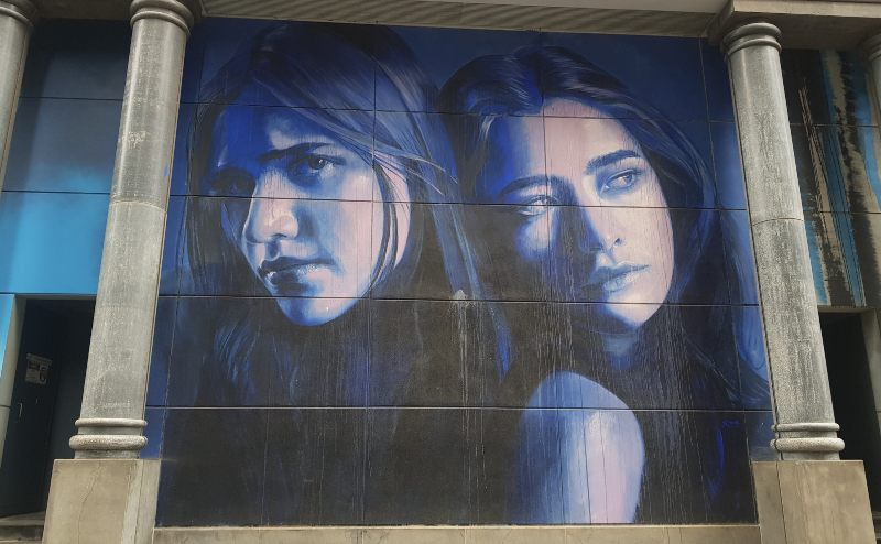 "Street artist Rone Mural in Melbourne  ""Melbourne Muses"""