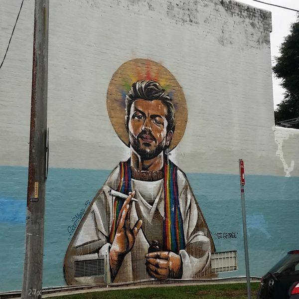 George Michael Mural in Newton by Scott Marsh