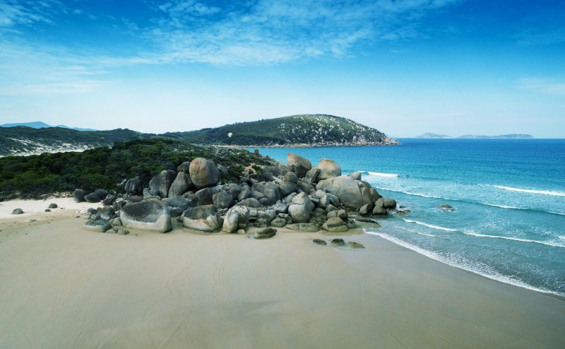 A beach on Wilsons Promontory, Victoria, Australia.