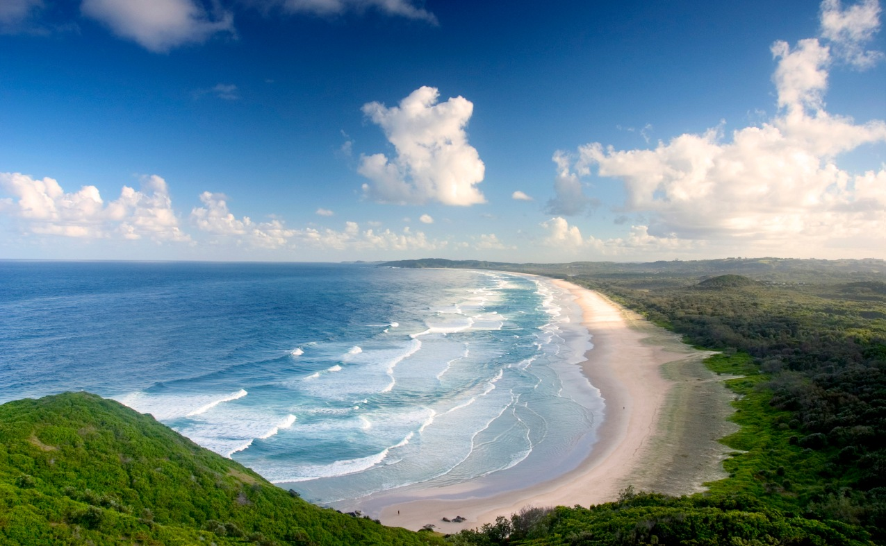 View from the top of Byron Bay, Australia