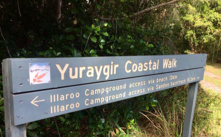 Yuraygir Coastal Walk sign