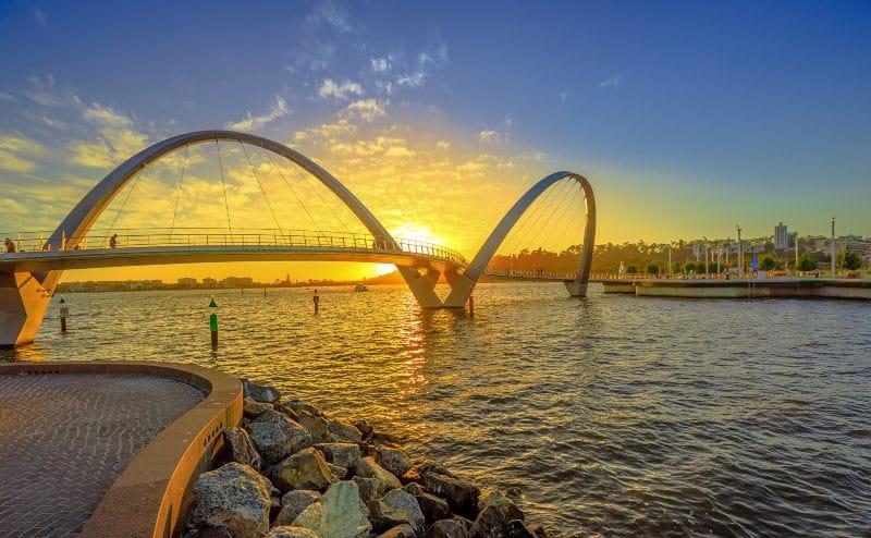 Elizabeth Quay Bridge sunset