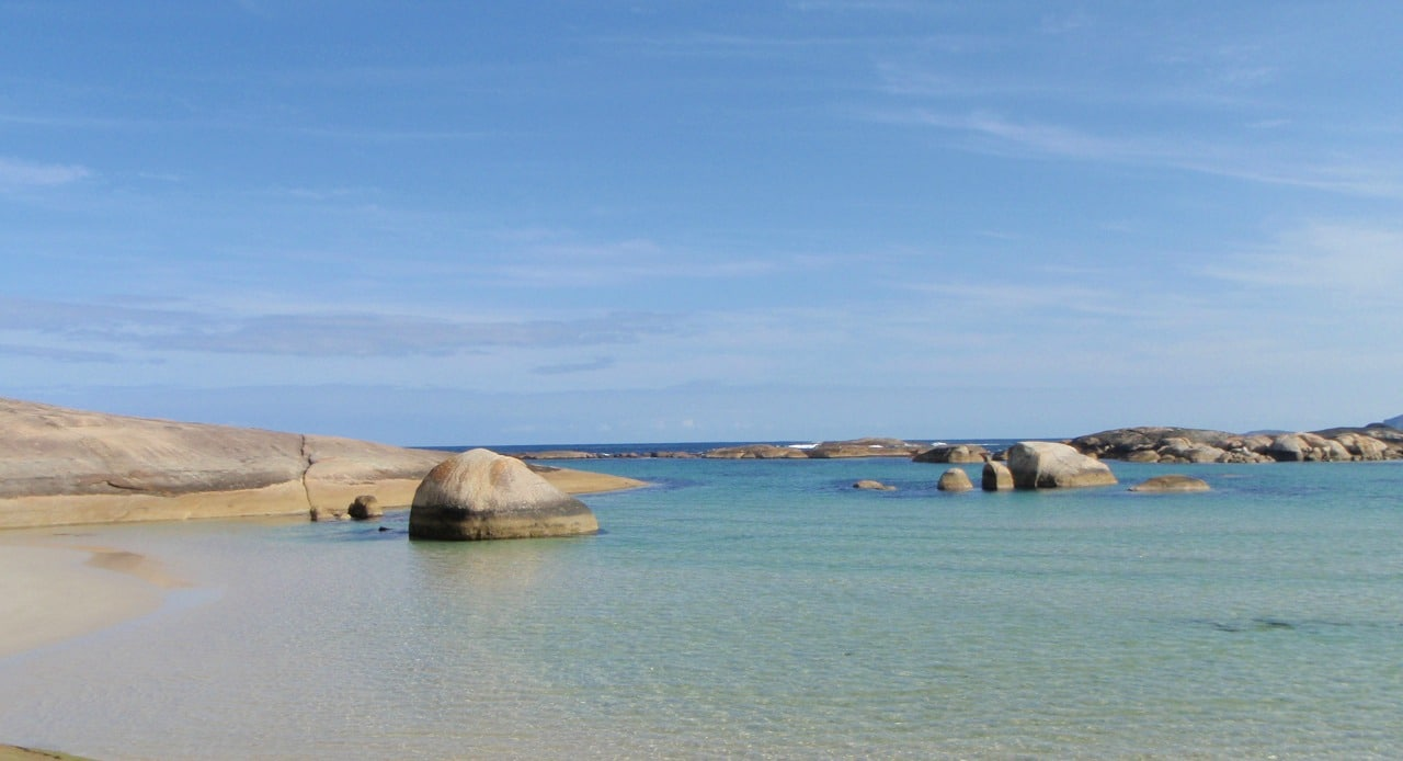 Visiting Elephant Rocks and Greens Pool in Western Australia
