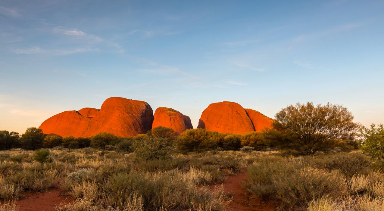 Kata Tjuta (The Olgas) sunset in Australia