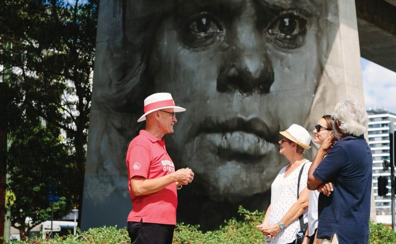 Brisbane Greeter on a street art walk
