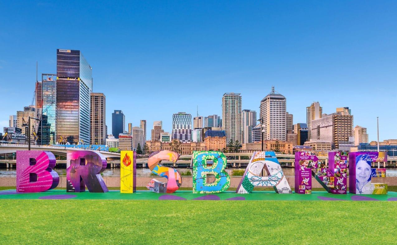 Colourful Brisbane Sign