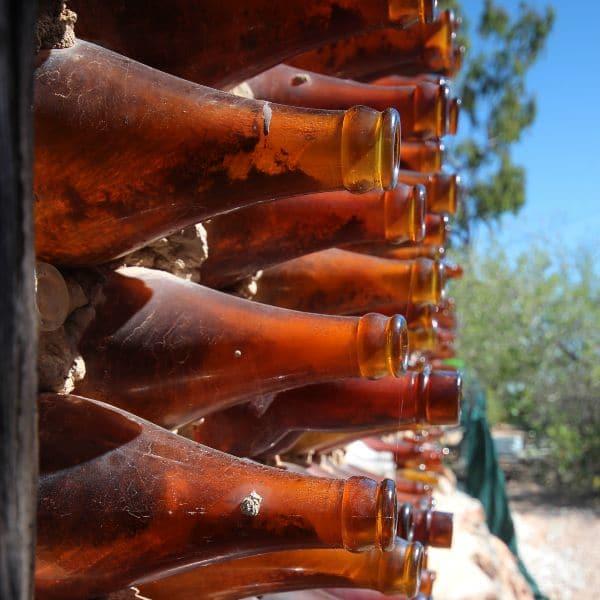 Bottle wall at the bottle house Lightning Ridge