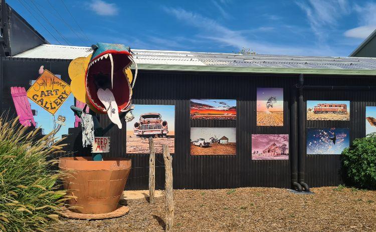 artworks on the wall John Murray Art Gallery Lightning Ridge