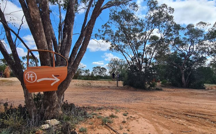 Orange Car Door Tour Lighning Ridge