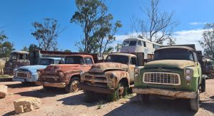 Old trucks at Grawin Lightning Ridge