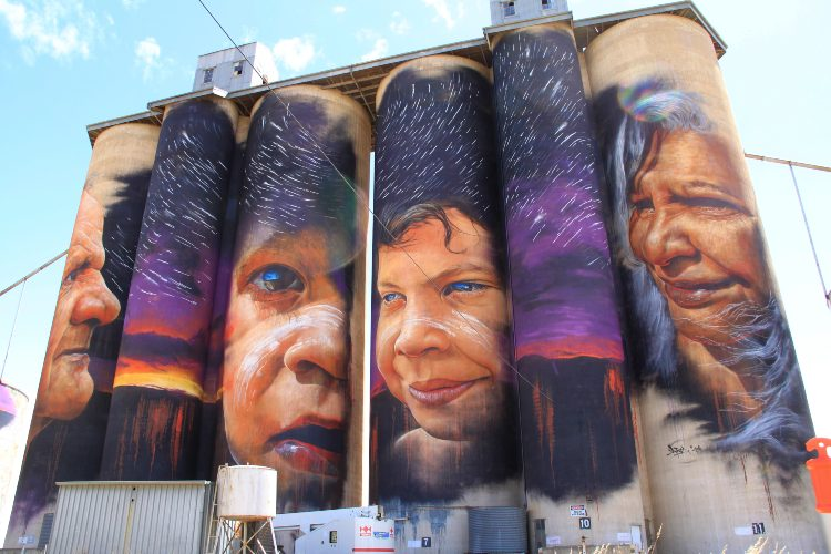Painted silo Victoria Australia