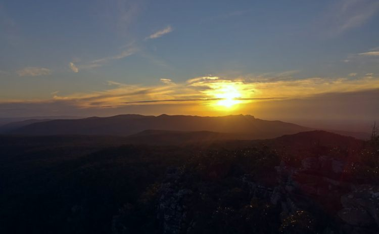 The Grampians sunset from near the Balconies