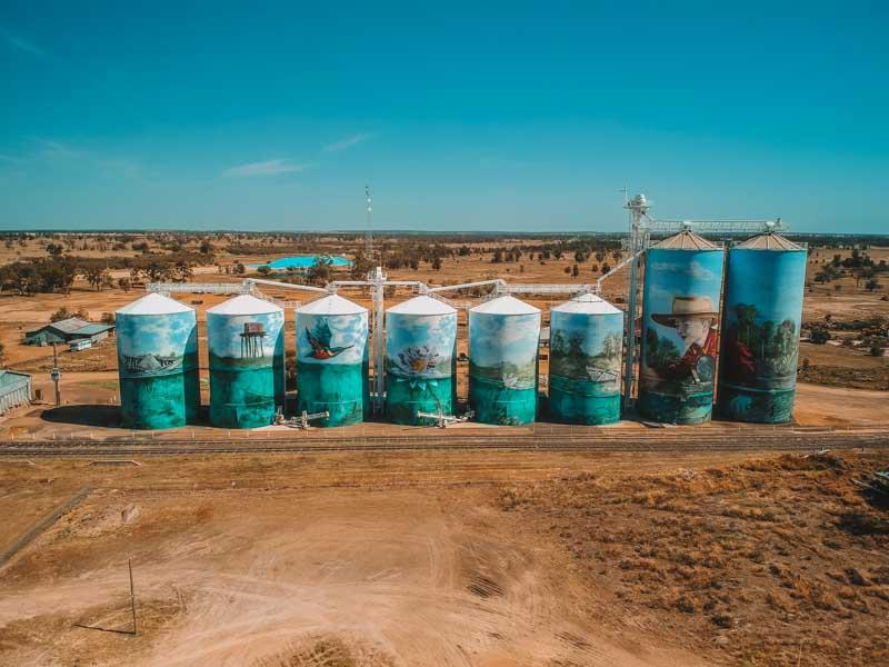 Queensland Silo Art in Yelarbon