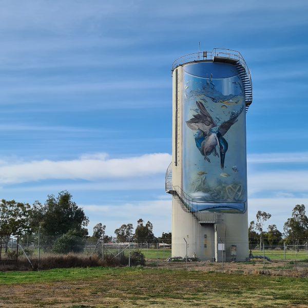 Galargambone Water Tower painted by Jenny McCraken