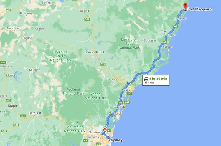 Port Macquare Map location
