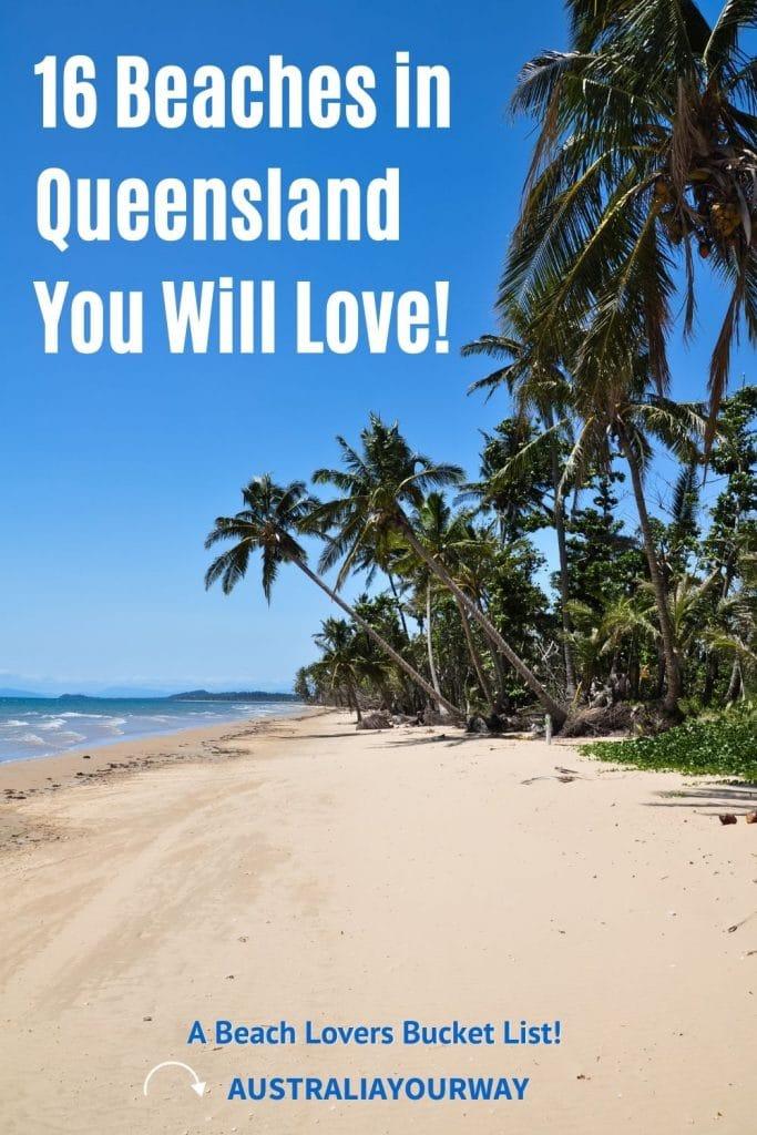 Queensland Beaches pin