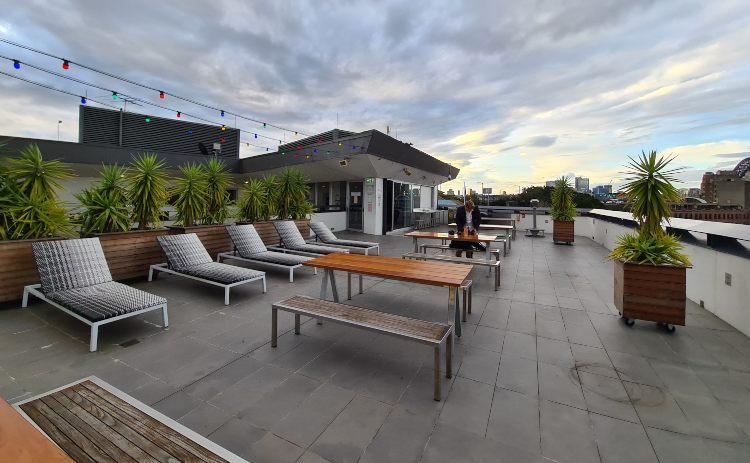 YHA Sydney roof terrace